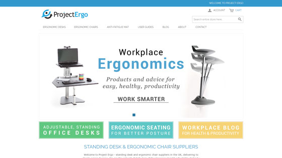 Project Ergo - UK ergonomic furniture suppliers in London